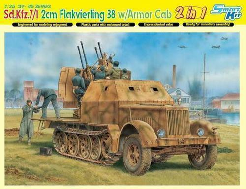 Dragon sd.kfz.7 1 2cm Flakvierling 38 W  Armor Cab 1 3 5 Building Kit 6533 2 in