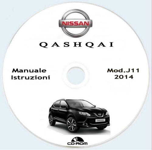 Nissan QASHQAI modello J11,libretto uso manutenzione Connect,anno 2014