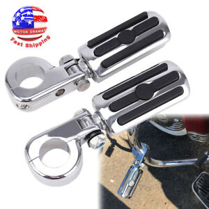 """Highway Foot Pegs for Road King Street Glide Electra Glide 1/"""" 1.25/"""" Engine Guard"""