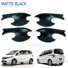 Set Matte Black 4Dr Bowl Handle Housing Insert Cover For Honda Freed 2010-2016
