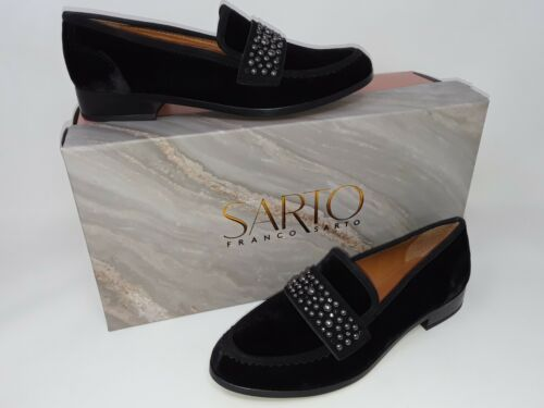 Franco Sarto A-Johanna F1948M2001 Women/'s Loafer Black Velvet 38Q New In Box