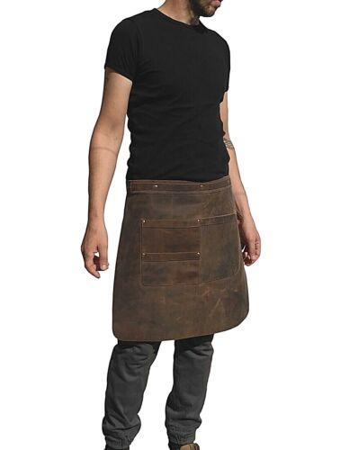 One Leaf Barista Apron for Restaurant Bar Salon Full Grain Leather