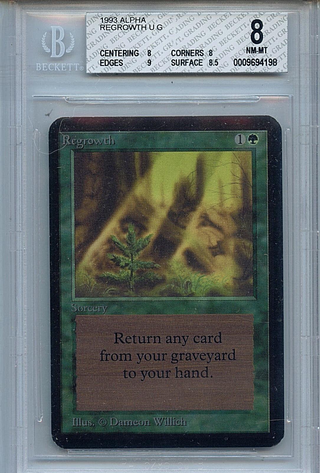 MTG Alpha Regrowth BGS 8.0 (8) NM-MT Card Magic WOTC 4198