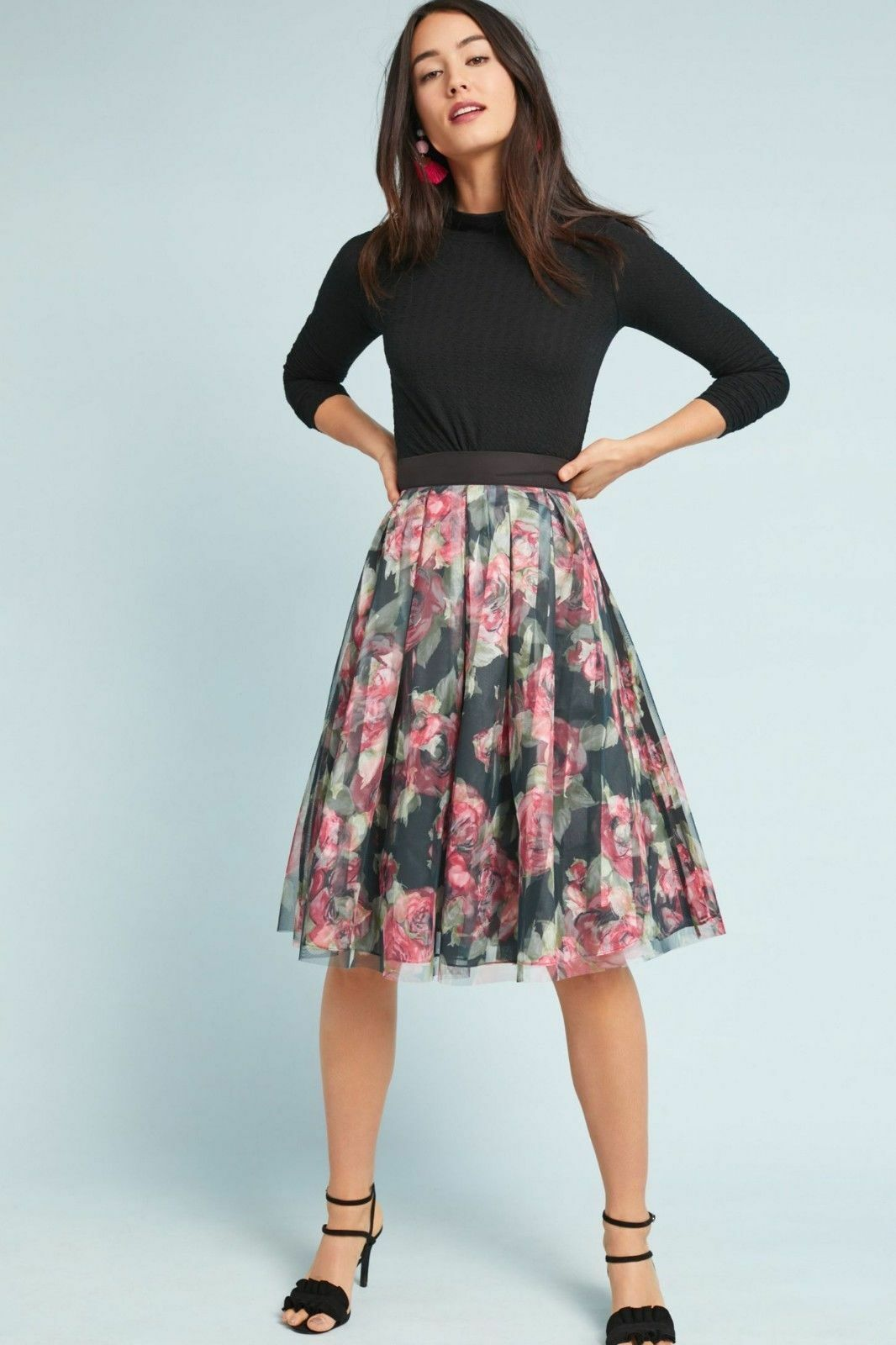 128  Anthropologie Dancer Tulle Skirt  size XL new nwt