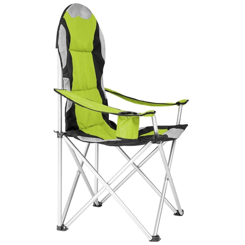 4 Campingstole polstret grøn