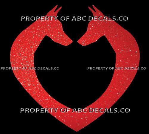 VRS DOG FACE HEART Doberman Pinscher Mini Love Adoption Rescue CAR METAL DECAL