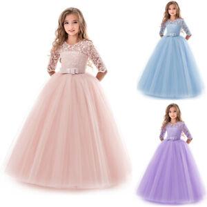 Prinzessin Kleid Party Hochzeit Madchen Kommunion Abendkleid Ballkleider Kinder Ebay