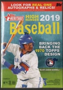 2019-Topps-Heritage-HIGH-Number-Baseball-MLB-Cards-Blaster-Box-72-Trading-Cards
