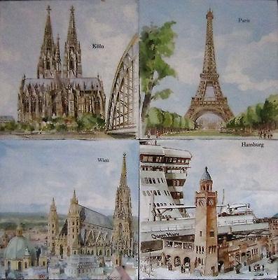 20 Servietten PARIS Stadt Frankreich Eifelturm Brücke 1 Packung OVP 1//4 motiv