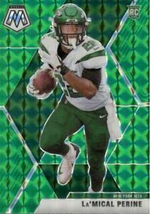2020 Panini Mosaic Rookies Green Prizm La'Mical Perine #235 Rookie New York Jets