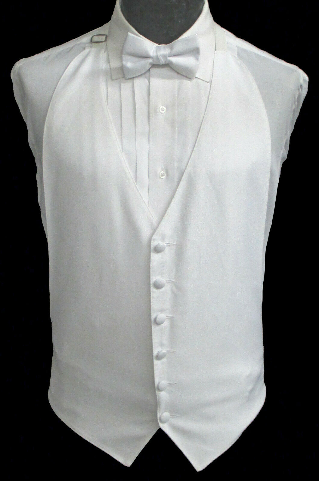 Men's White Open Back Backless Tuxedo Vest Costume Cosplay Cheap Discount