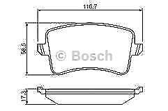 Bosch 0986494254 Brake Pad Set