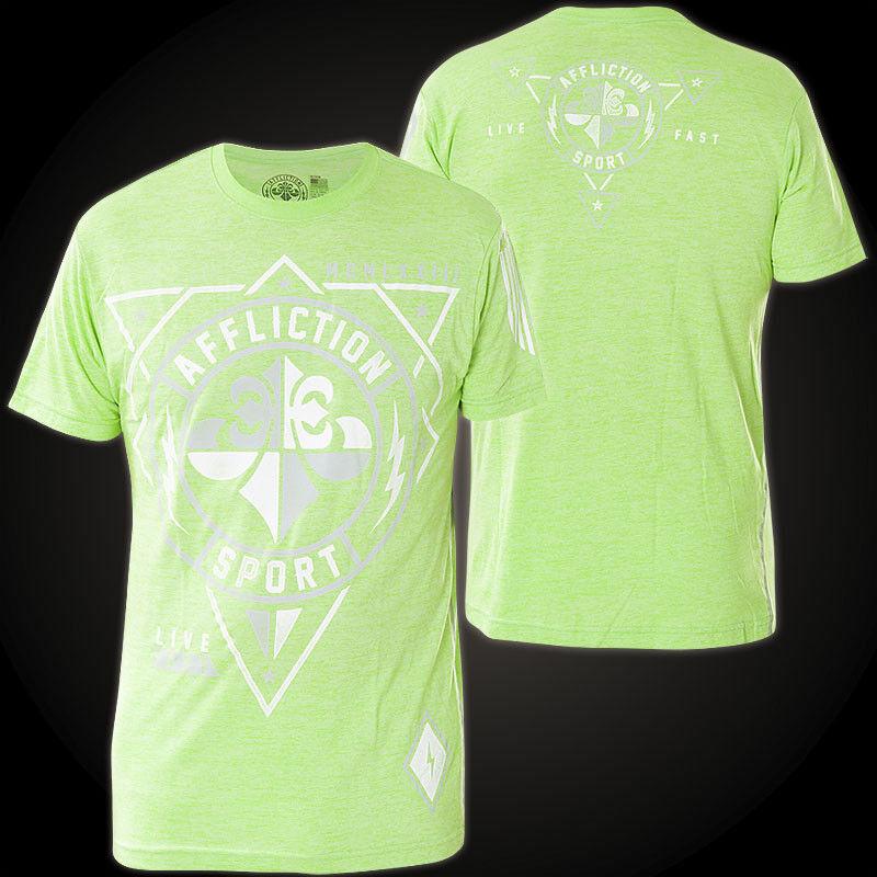 AFFLICTION T-Shirt Geo Sport Grün T-Shirts Herren