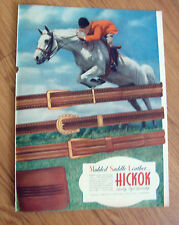 1946 Hickok Belts Wallets Ad Molded Saddle Leather Horse Jumping Equestrian