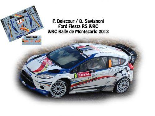 NCM046 RALLYE MONTE CARLO 2012 DECALS 1//43 FORD FIESTA RS WRC #8 F.DELECOUR