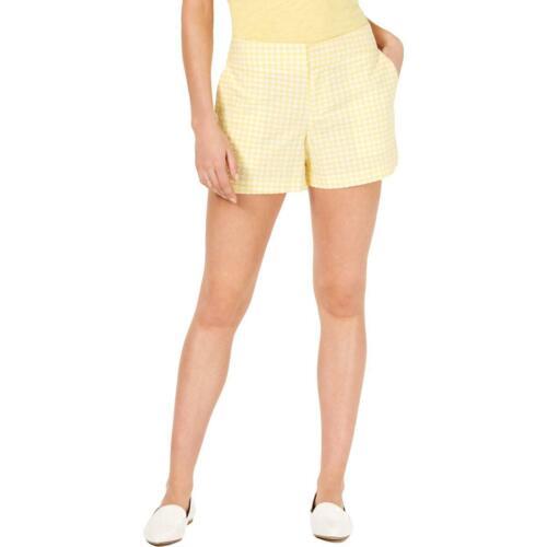 Maison Jules Womens Gingham Pocket Casual Shorts BHFO 2848