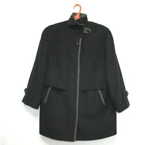 f4f955570a7a Vtg YOUR 6TH SENSE Alpacca Loden Womens Jacket Coat Pure Wool Black ...