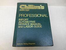 Chilton's 6808 1979 Import Automotive Service Manual & Labor Guide Professional