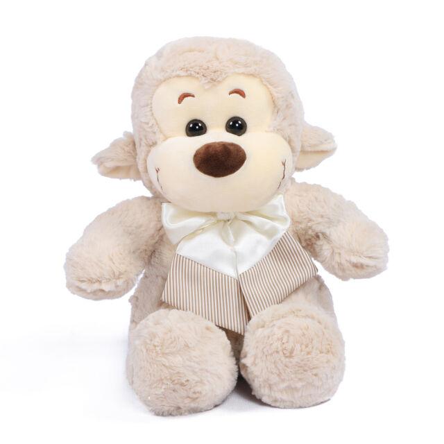 Joyfay Cute 11 Light Grey Stuffed Monkey Plush Toy Valentines Gift