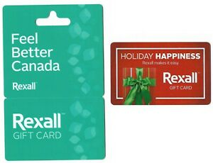 2-collectible-REXALL-PHARMA-PLUS-gift-cards-Canada-Ontario-Toronto