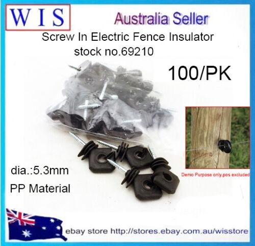 100//PK Diamond Insulator,Rope//Tape Insulator Black with Wood Screw Thread-69210