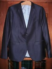 LOVELY BLUE-BLACK TONIC SUIT BY PETER WERTH 40CH/36W/32L,VERY MOD,WORN ONCE
