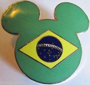 Disney-Epcot-World-Showcase-Mickey-Head-amp-Ears-Brazil-Pin