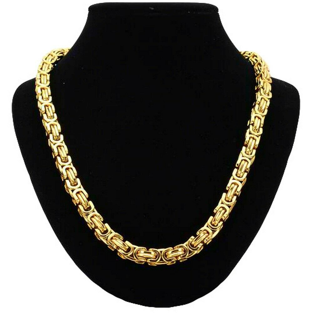 0 9 16in 15 3 4in - 35 7 16in Byzantine King's Chain gold Stainless Steel Curb