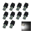 10x White AUTO 3157 Brake Lamp Indicator Light 13 5050 SMD LED W2.5q 3156 F002
