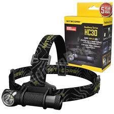 New Nitecore HC30 Cree XM-L2 LED 900 Lumen headlamp 18650 / CR123A headlight USB