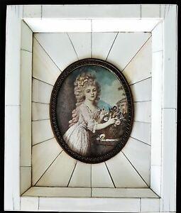 (ba042) Miniature Avec Portrait Princesse Lichnowsky, Gouache 19. Siècle-afficher Le Titre D'origine