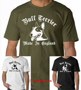 English Bull Terrier t-shirt, Bull Terrier Made in England ...