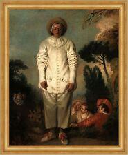 Gilles Antoine Watteau Pierrot Commedia dell arte Theater Plakat  H A3 0246