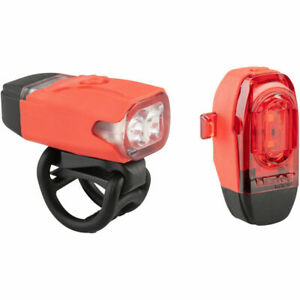 LEZYNE Femto USB Drive Bicycle Light Headlight and Taillight Set Black