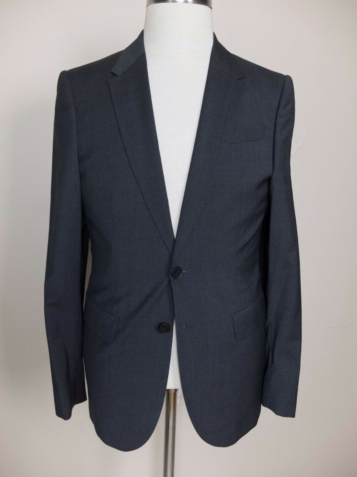 PS PAUL SMITH slim-fit two-button solid grau wool suit - Größe 38 US / 48 EU NWOT