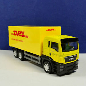1-64-Scale-Yellow-Delivery-Diecast-Car-DHL-Express-Freight-Truck-Model-Toys