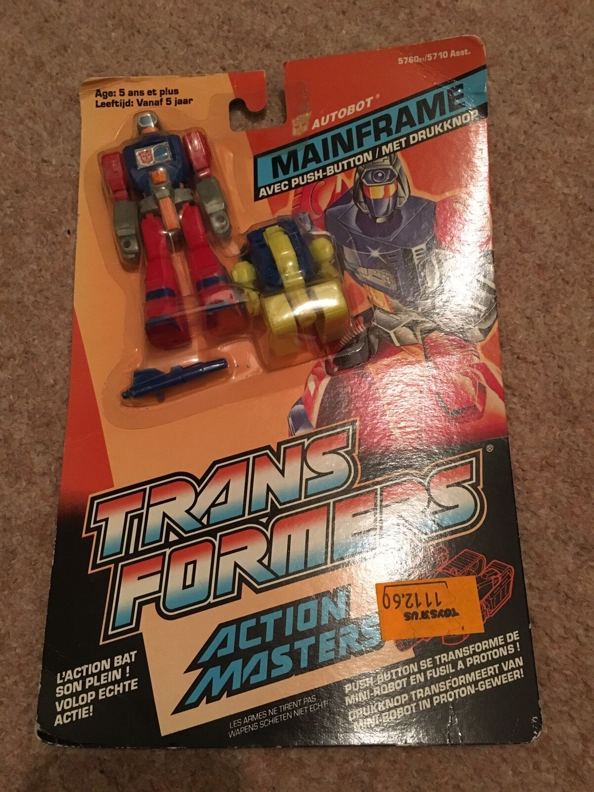 Transformers Action Masters Mainframe with Push-Button French dutch Moc 1989