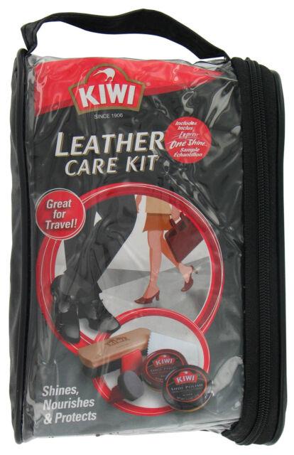 Kiwi Leather Care Travel Kit Black