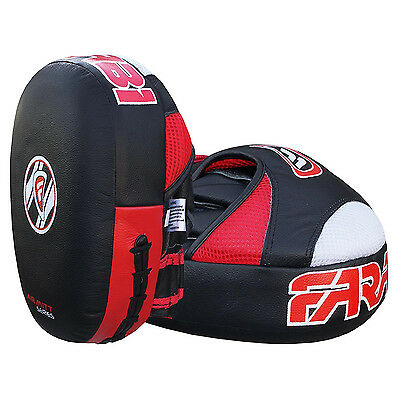 Boxing Training Pads Pair Farabi Curved Focus Pads Hook /& Jab Mitts