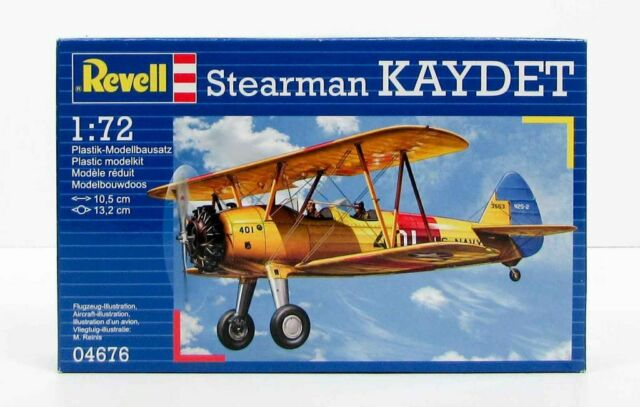 MODEL AIRCRAFT REVELL SEARMAN KAYDET BIPLANE 1:72 SCALE NEW