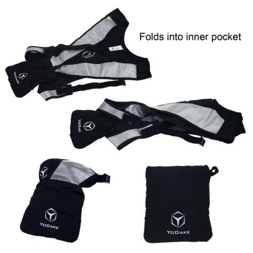 High Visibility At NIGHT        S Yodake Reflective Safety Vest Fits Size S-M-L