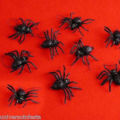 Ragni  neri in lattice confezione da 8 pezzi