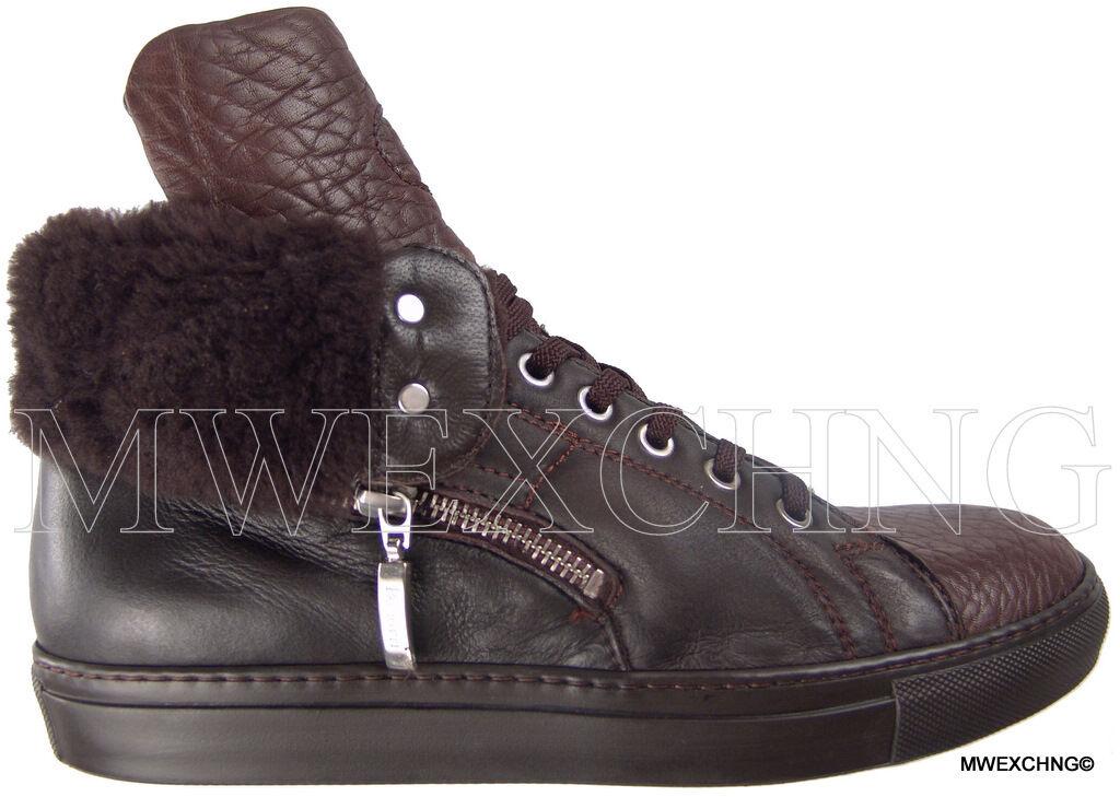 980 Cesare Paciotti US US US 7 Shearling Deer Skin Ankle stivali Italian scarpe 46bffe