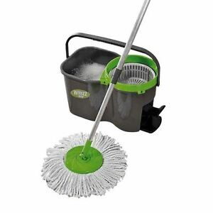 Mop /& Bucket Super Absorbent Microfibre Refill Home Cleaning Set with 3 Heads