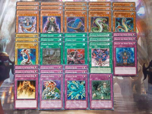 Yugioh Vennominaga The Deity of Poisonous Snakes 40 Card Deck Venom Swamp NM