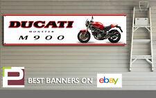1994 DUCATI M900 monstruo Banner para taller, garaje, Pit Lane, 1300mm X 325mm