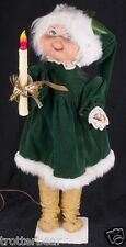 """Animated Mechanical Christmas Store Window Display 25"""" Woman Motionette VIDEO"""