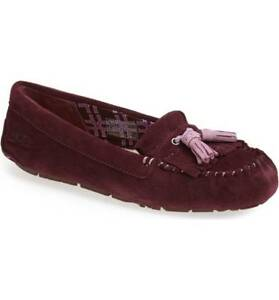 99c79e419a0 Details about New Authentic Women's UGG Lizzy Tassel Slippers Port Plum  Purple Size 12 / 43