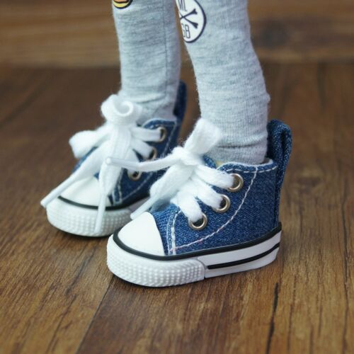 Dark Blue Sneakers Flats Shoes For 1//6 11inch tall BJD Doll AOD AS YOSD Doll G/&D