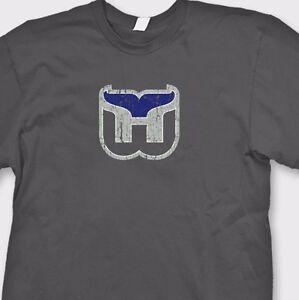 HARTFORD WHALERS Retro Hockey T-shirt Jersey Vintage NHL Tee Shirt ... 7957cd7ed